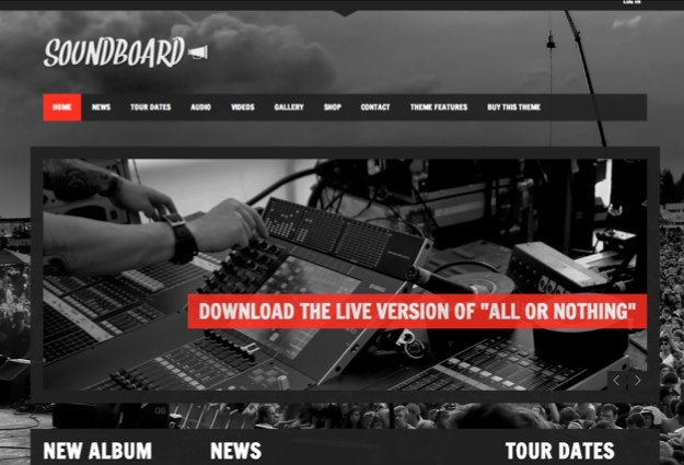 Soundboard WordPress Theme