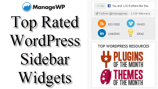 how to create a side bar widget in wordpress