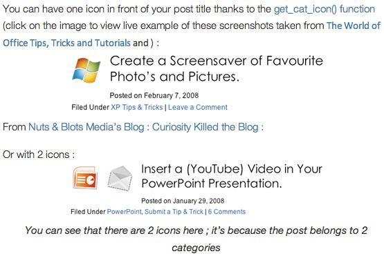 Category Icons WordPress Plugin