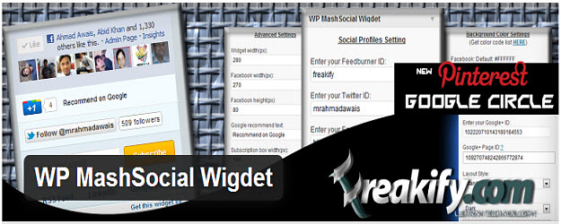 WP MashSocial Widget WordPress Plugin