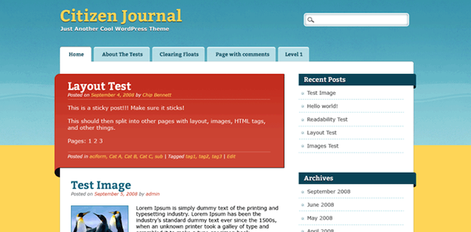 Screenshot of Citizen Journal.
