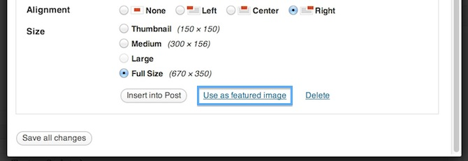 WordPress 3.4 featured image screenshot.