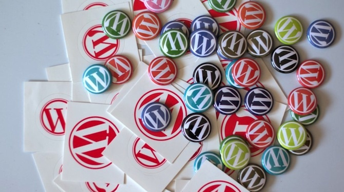 WordPress cards and buttons.