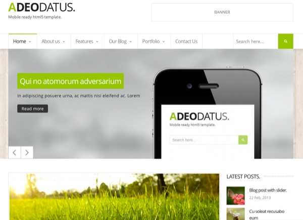 Adeodatus Corporate WordPress Theme