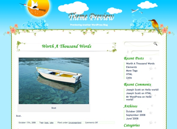 Green Nature Spring WordPress Theme