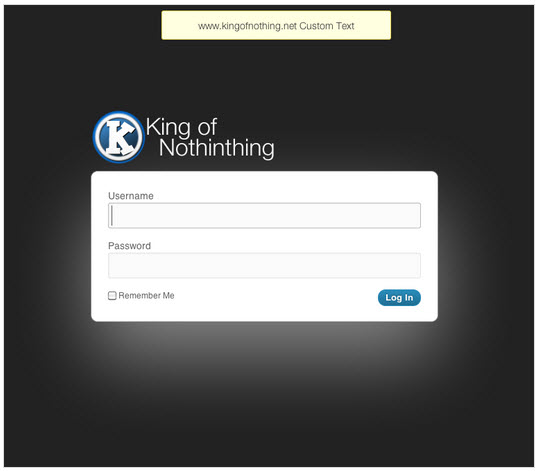 Memphis WordPress Custom Login