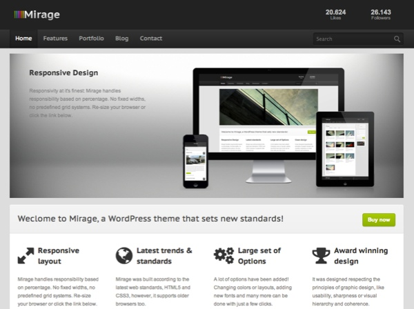 Mirage Corporate WordPress Theme