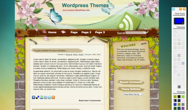 Peach Bloom Spring WordPress Theme