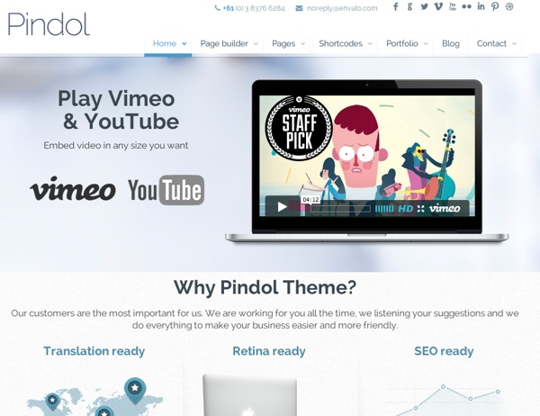 Pindol Corporate WordPress Theme