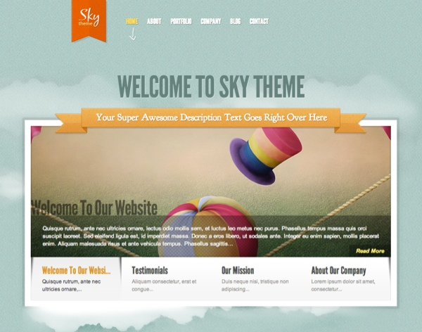 Sky WordPress Theme