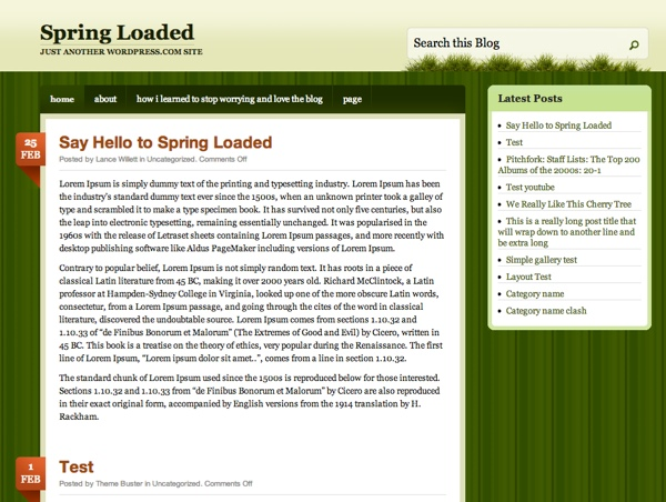 Spring Loaded WordPress Theme