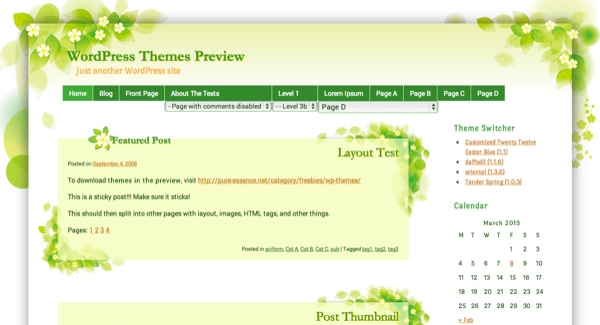 Tender Spring WordPress Theme