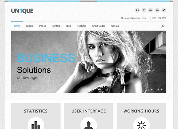 Unique Corporate WordPress Theme