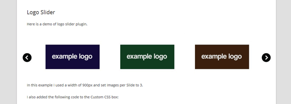 Logo Slider plugin screenshot.