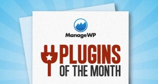 ManageWP Plugins of the Month logo.