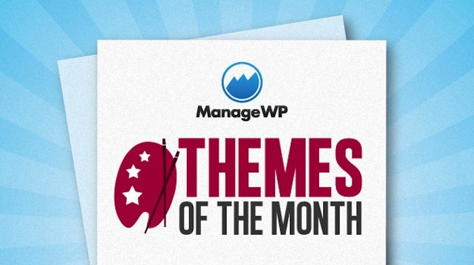 ManageWP Themes of the Month