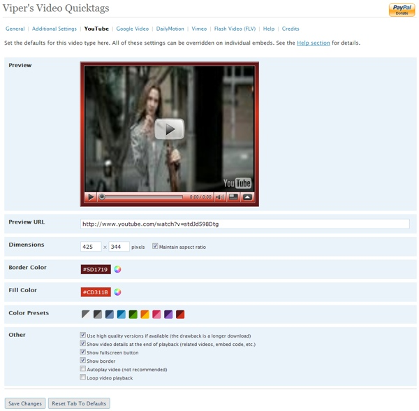 Viper's Video Quicktags for WordPress