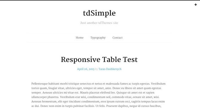 tdSimple