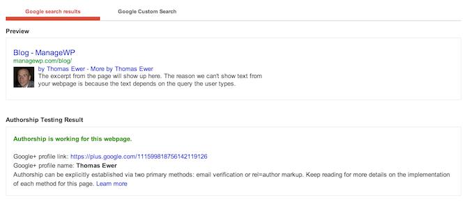 Google Plus Authorship Verification