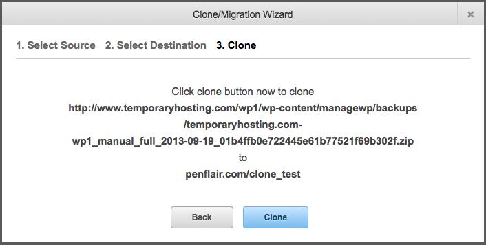 Clone/Deploy Wizard - Clone