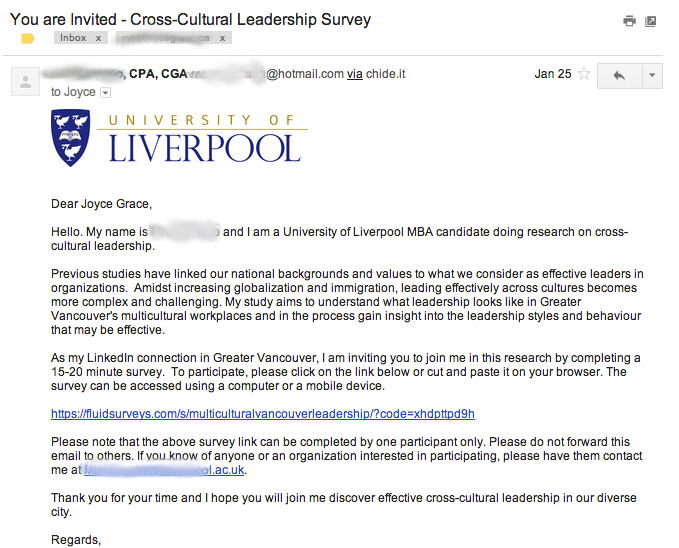Invited-to-survey