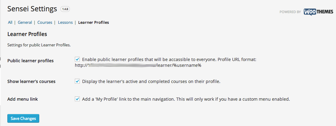 sensei-learner-profile-settings-page