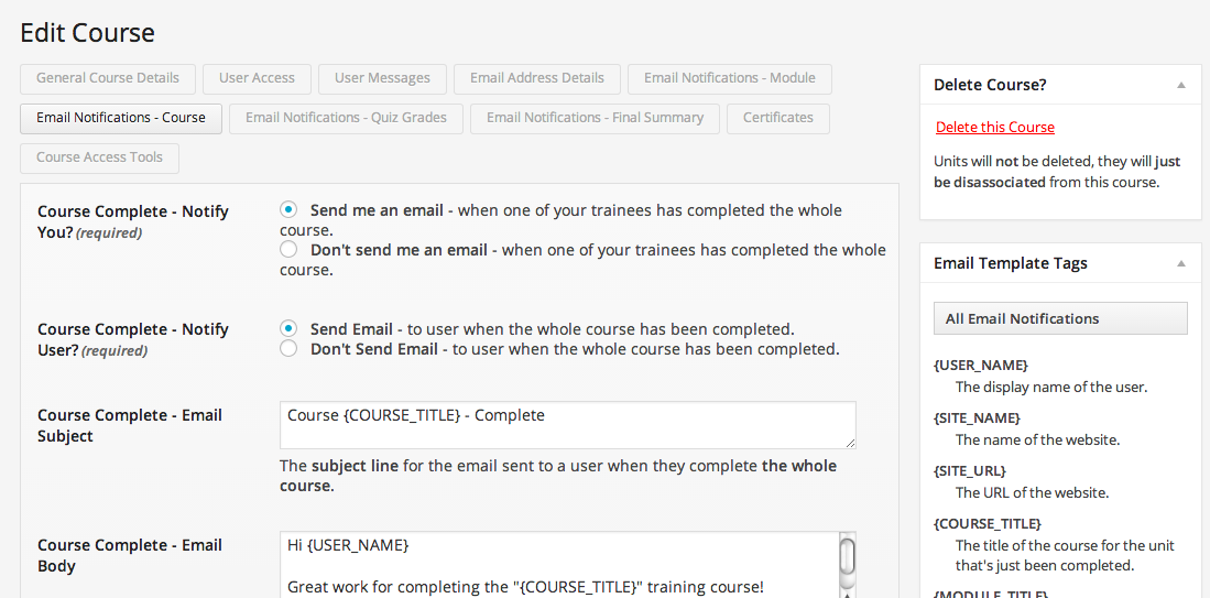 wp-courseware-e-mail-notifications-settings