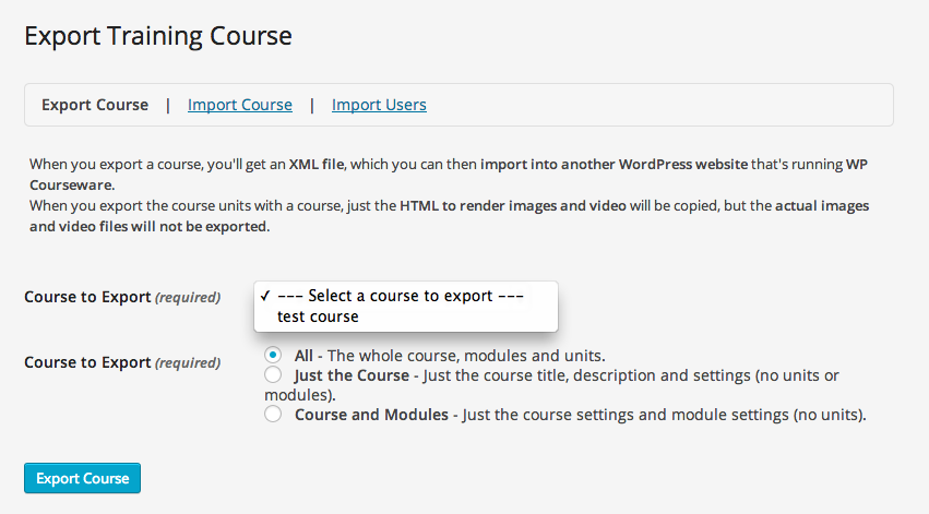 wp-courseware-import-export-screen