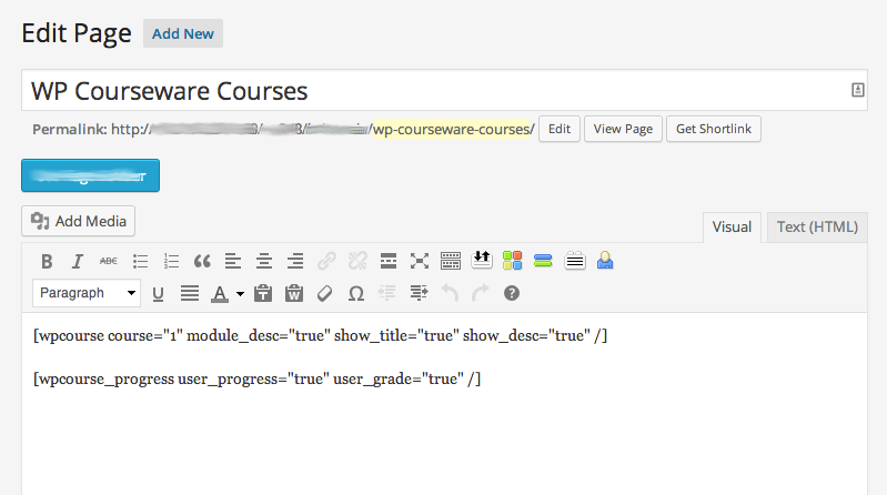 wp-courseware-page-with-shortcodes