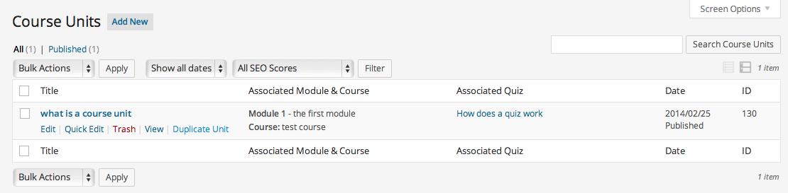 teaching courseware wordpress