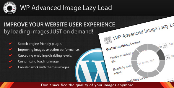 WordPress Advanced Image Lazy Load