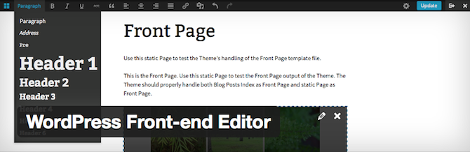 WordPress Front End Editor