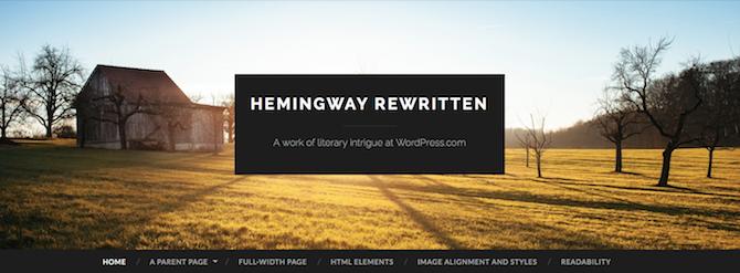 Hemingway Rewritten Theme