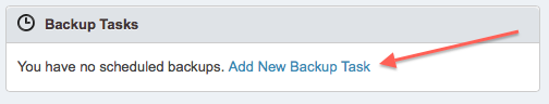 Add New Backup