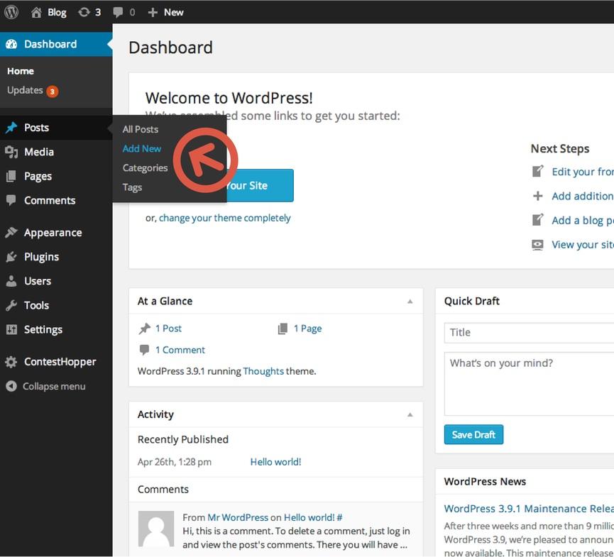Add Post on WordPress