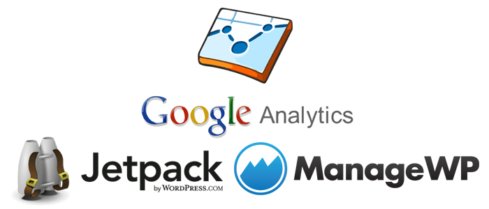 google-analytics-jetpack-managewp-logos