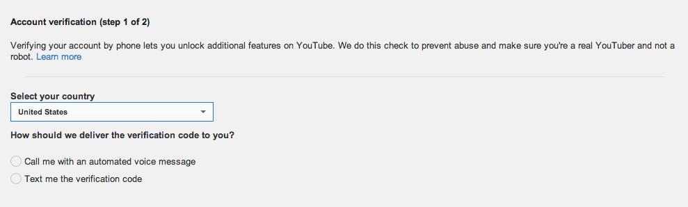 Verify YouTube