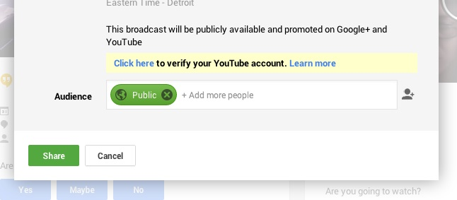 Verify YouTube