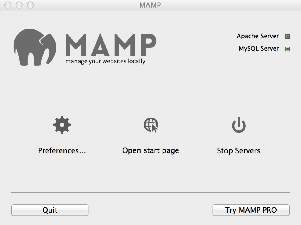 MAMP Dashboard Widget
