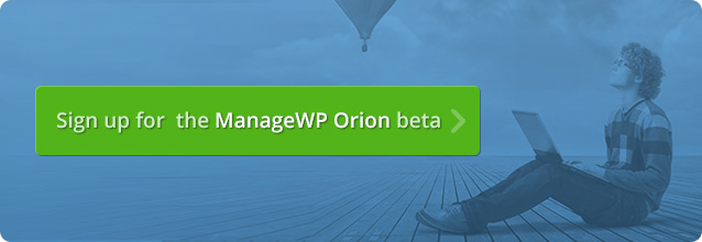 ManageWP Orion beta signup