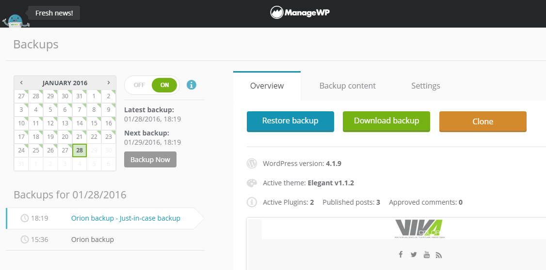 Move WordPress Websites With Orion - ManageWP