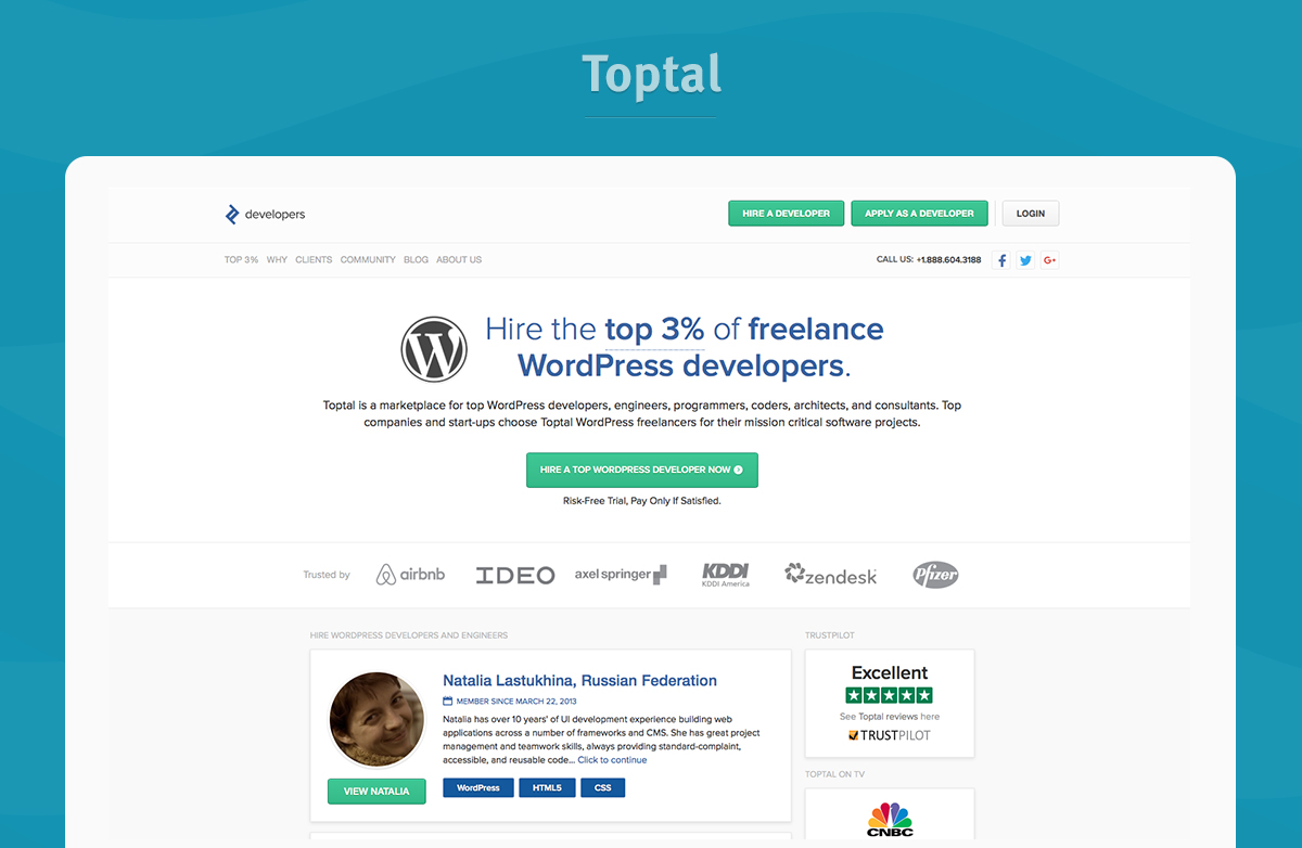 toptal website