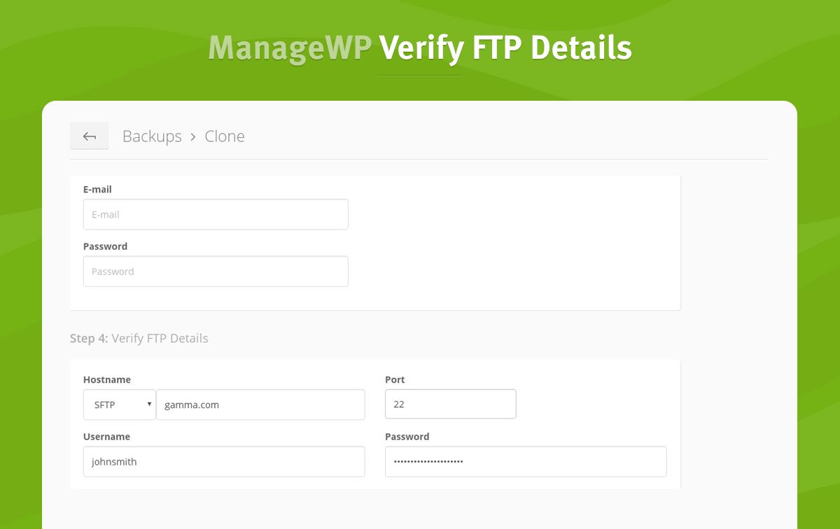 3 verify ftp details