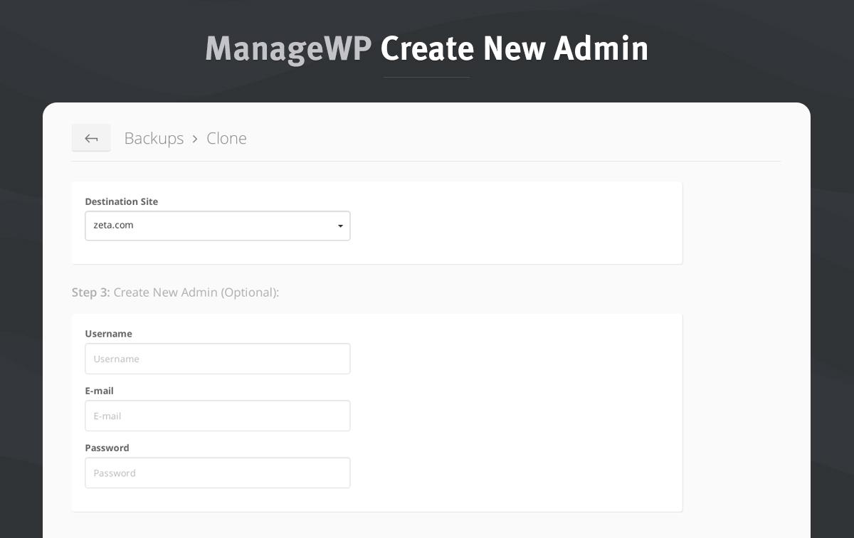 4 create new admin