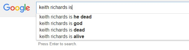 Keith Richards Google search