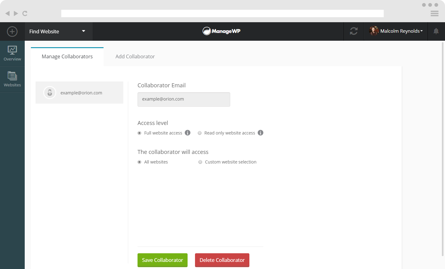 Manage your collaborators