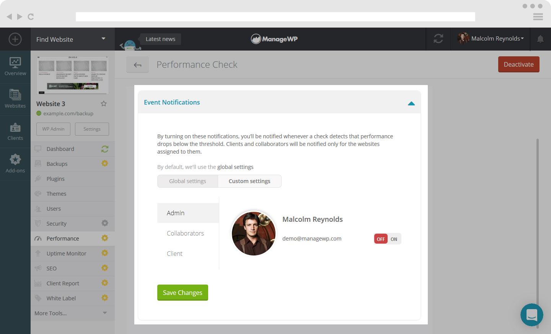 performance notifications