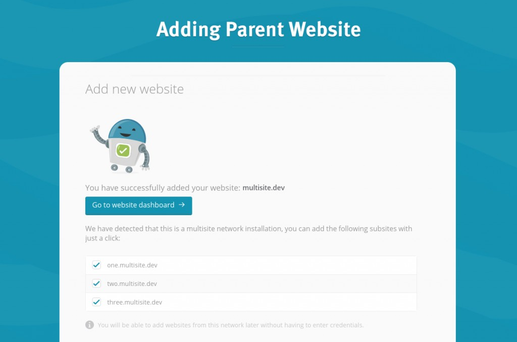 adding parent website