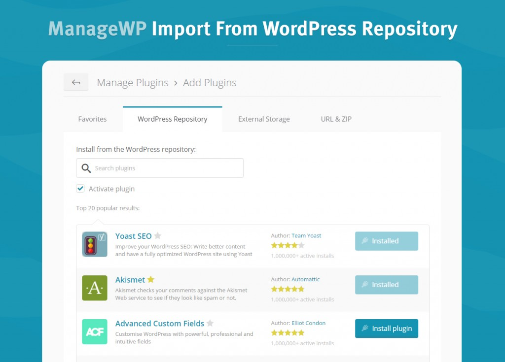Import-from-WordPress-repository